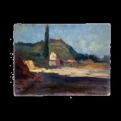 Ashod Zorian (1905-1970) : Landscape (possibly Italy), ca.1926.