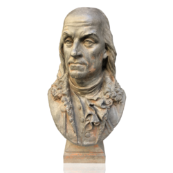 Auguste Flavien Poitevin [1819-1873] : Bust of Benjamin Franklin [1706-1790], ca.1860.