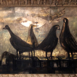 Henri Sert also known as H.S.H. [1938-1964] : Five birds, 1958.