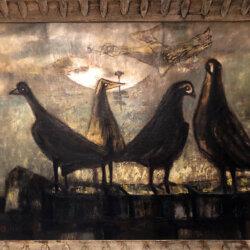 Henri Sert also known as H.S.H. [1938-1964] : Five birds, 1958.
